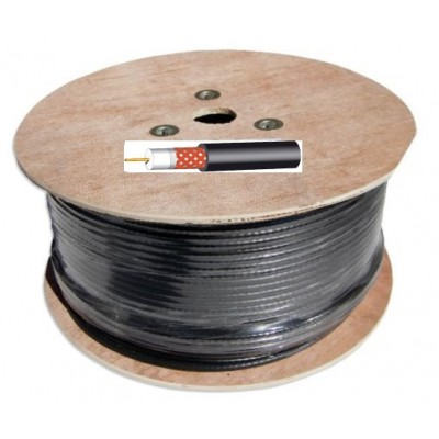 Technomate TM-625  250m RG6 Satellite Cable Black or White