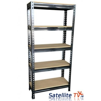 5 Tier Metal Garage Workshop Warehouse Shed Storage Shelf Racking Unit