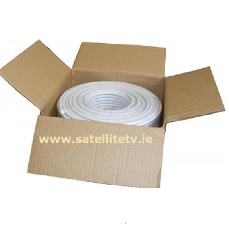50m RG6 Satellite Cable White