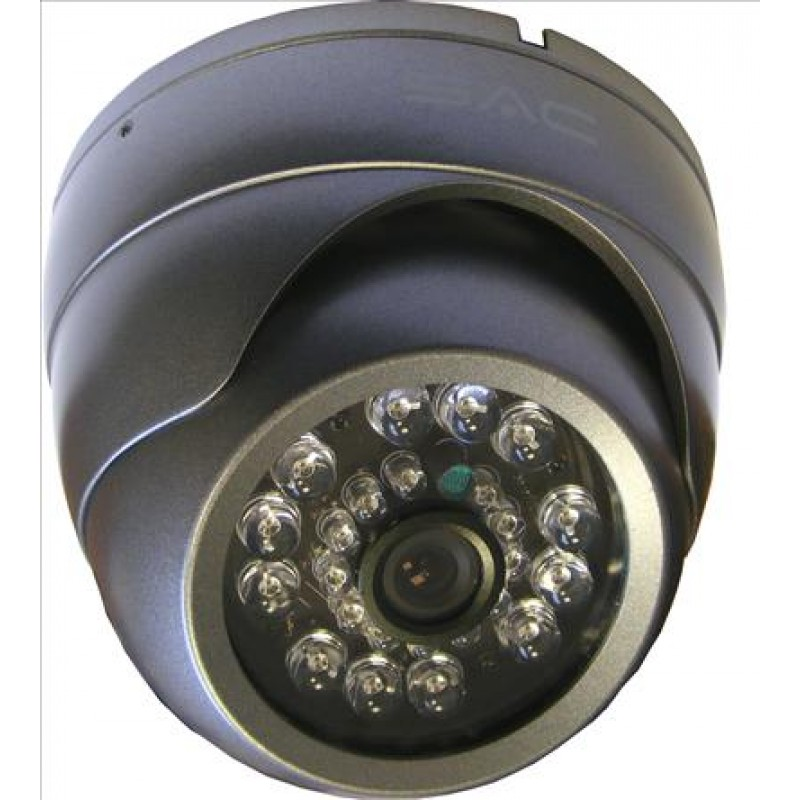 Dome Grey 6mm VANDAL-PROOF IR CCTV Camera