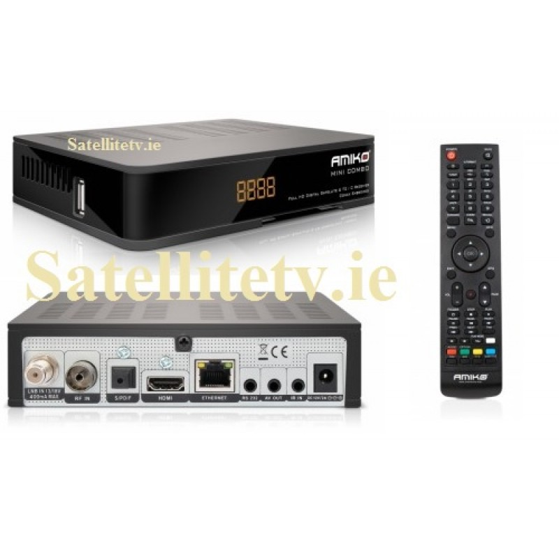 Amiko Mini Combo SE HD Receiver Saorview, Cable TV and Satellite