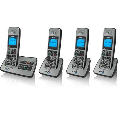 BT2500 Quad Cordless Dect Phones with Answering Machine