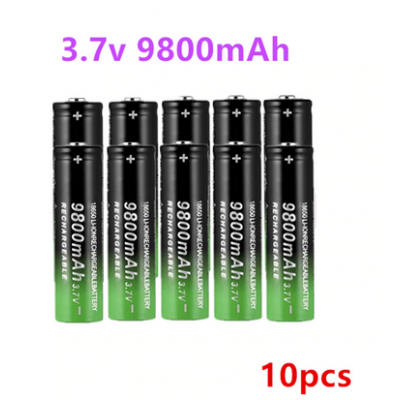 Li-ion 3.7V 9800mah 18650 Batteries x 10