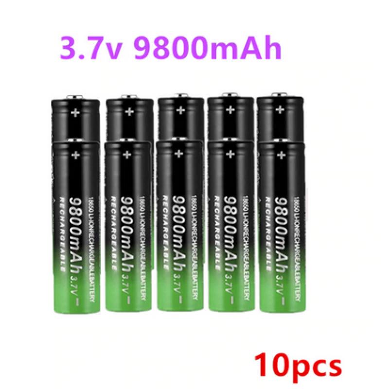 Li-ion 3.7V 9800mah 18650 Batteries x 10