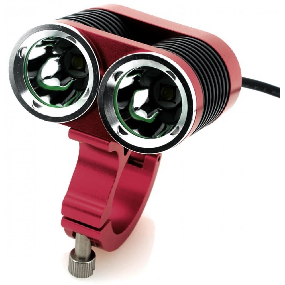 Bicycle Bright Led Light 2 X Cree Xml T6 Leds 2400