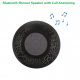 Bluetooth Shower Speaker - BLACK - Hands-free Call / 400mAh Lithium-ion Battery / Lamp Colour Change