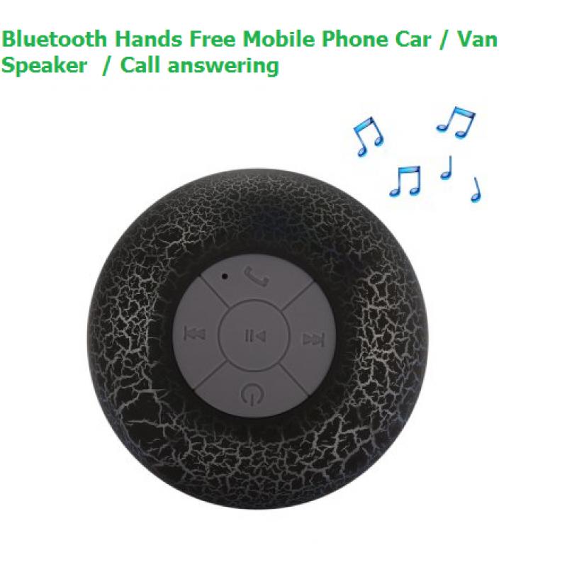 Bluetooth Hands Free Car Speaker - BLACK - Hands-free Calling
