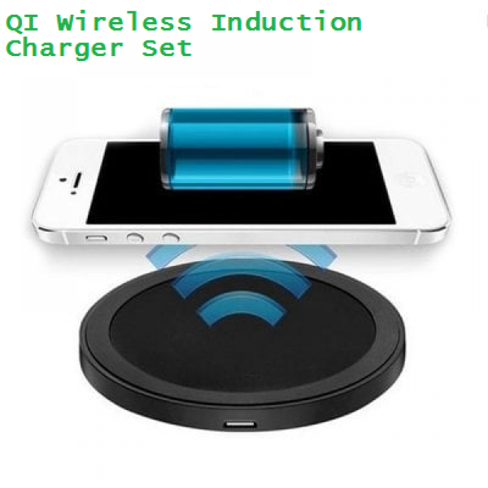 qi wireless charge pad for mobile phones wireless induction charger set 1000ma. Black Bedroom Furniture Sets. Home Design Ideas