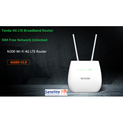 Tenda 4G LTE Router 4G680 Router N300 Wi-Fi