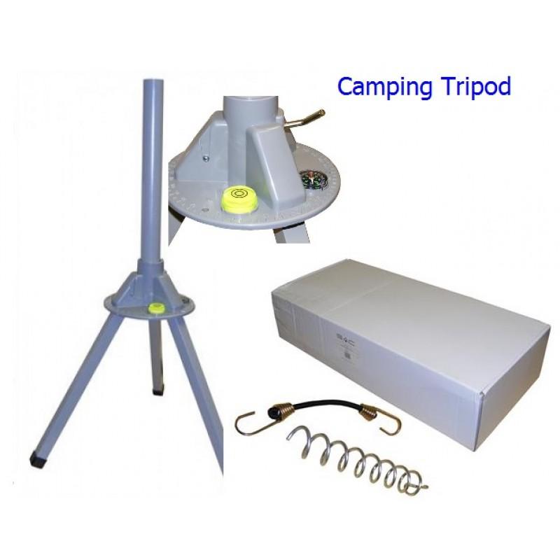 Portable Camping Tripod +  Zone 2 Dish + LNB