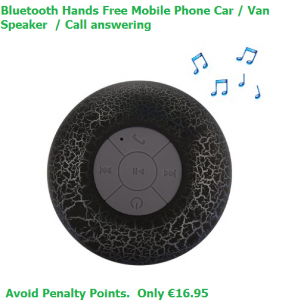 Bluetooth Hands Free Car Speaker - BLACK - Hands-free Calling