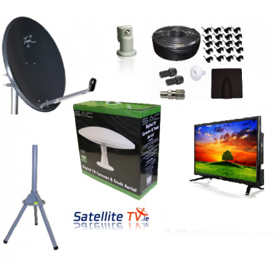 "Caravan HD 19"" LED TV + Satellite TV + Saorview System"