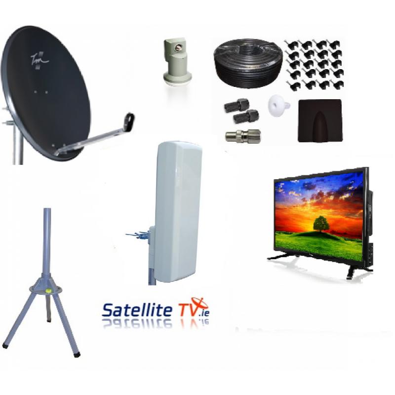 Caravan HD LED TV + Satellite TV + Saorview System