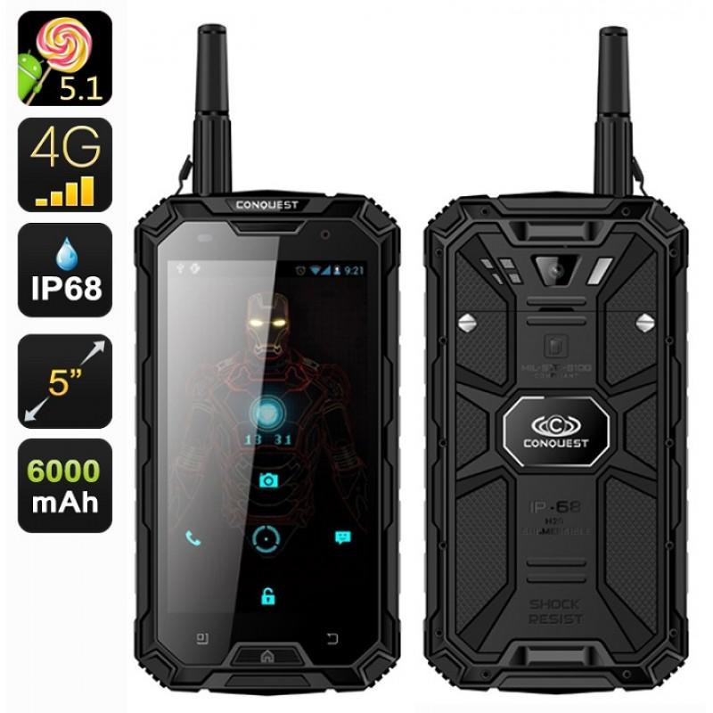 Conquest S8 Pro Military Grade Rugged Smartphone - IP68 Waterproof - Dustproof -Shockproof