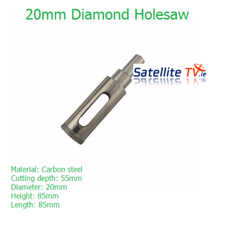 20mm Diamond Coated Tile and Glass Holesaw