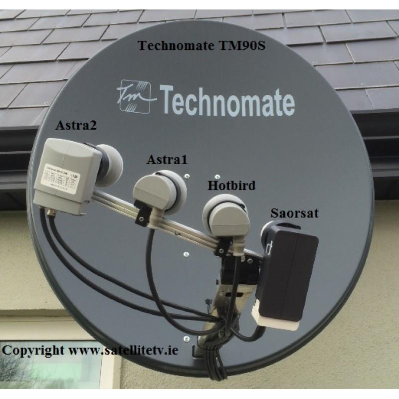 Saorsat, Hotbird, Astra1 + Astra2 plus the TM-Nano M3 HD Receiver