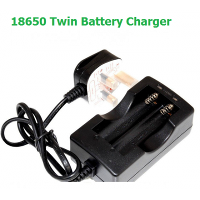 Double Battery Charger 18650 Batteries