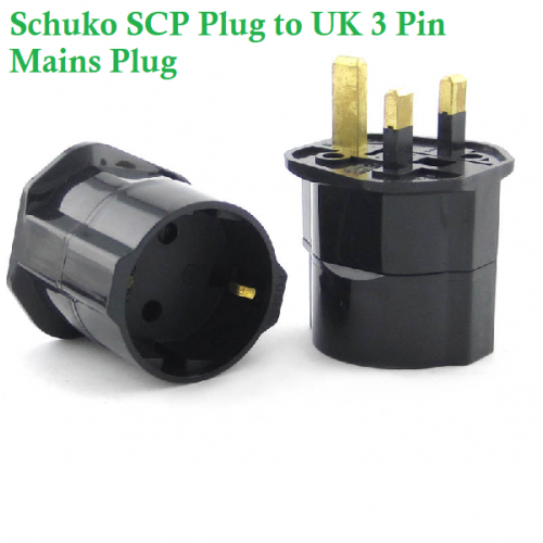 EU to Ireland + UK Plug Adaptor