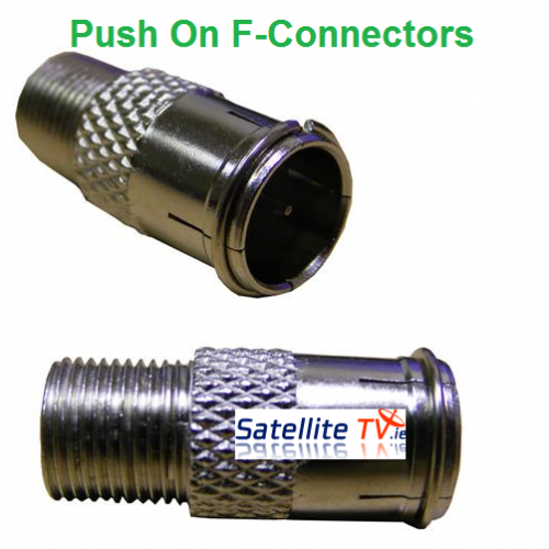 Push On Quick F-Connector