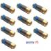 F-Connector Crimping Tool + 10 Gold F-Connectors