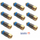 Snap and Seal Gold F-Connectors x 10