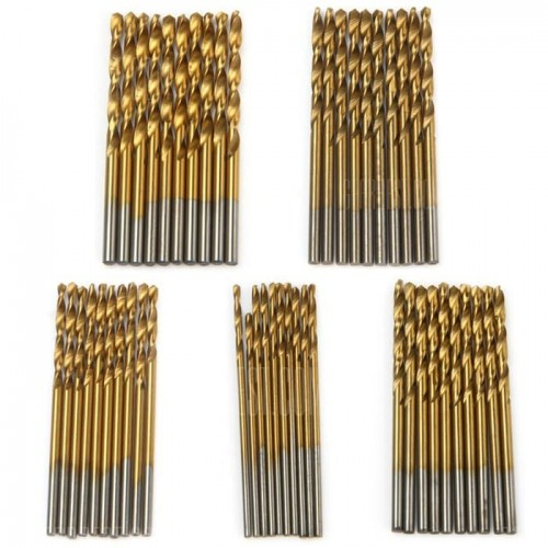 HSS Twist Drill Bit Set - 50 pieces