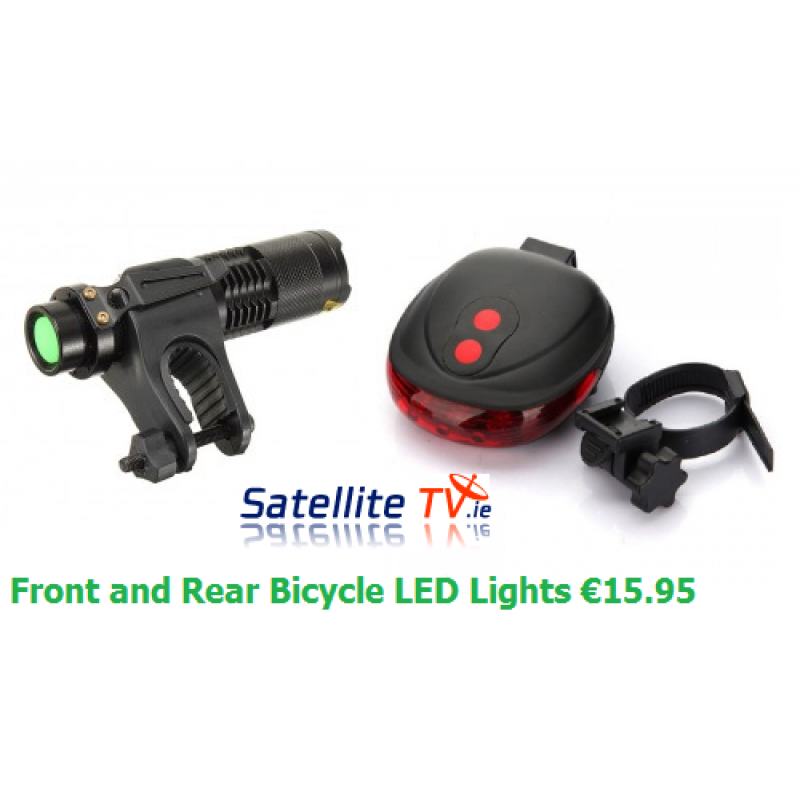 Bicycle LED Front Light + Rear LED Bike Light