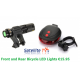 Bicycle LED Front Light + Rear LED Bike Light