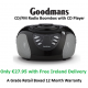 Goodmans GPS02BLK Boombox FM with CD Player - Refurbished - Grade A