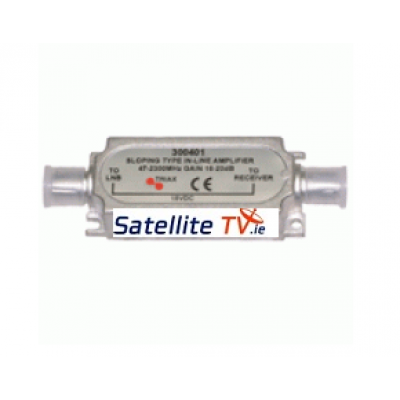 Inline satellite amplifier