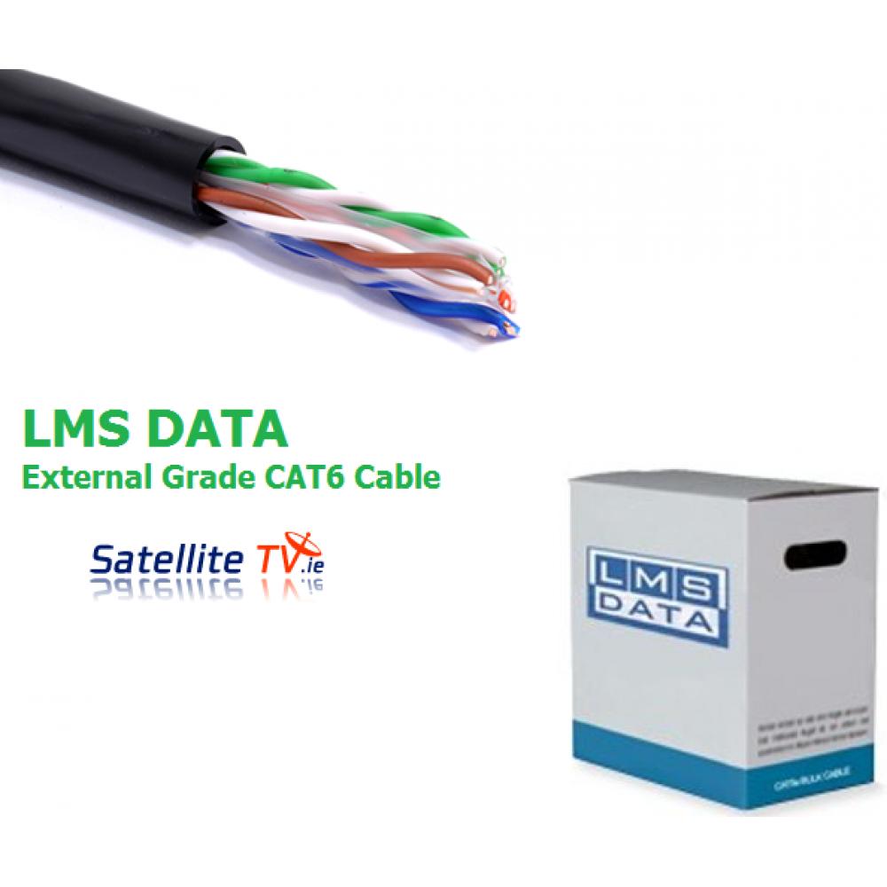 Lms data cat6 solid u utp external outdoor pvc ethernet for Cat 6 esterno