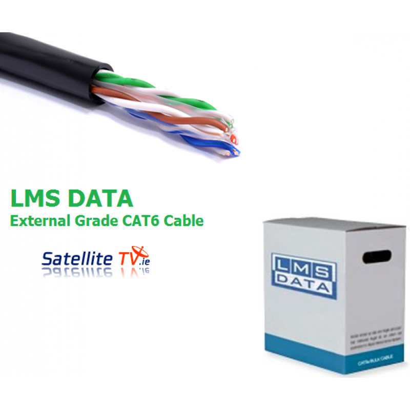 LMS DATA CAT6 Solid U/UTP External/Outdoor PVC Ethernet Cable