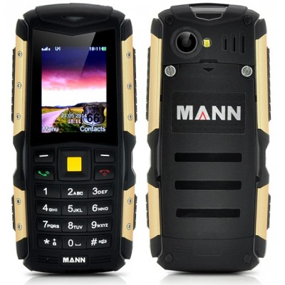 MANN Rugged IP67 Waterproof, Dustproof, Shockproof 2 Inch Display Mobile Phone - Gold