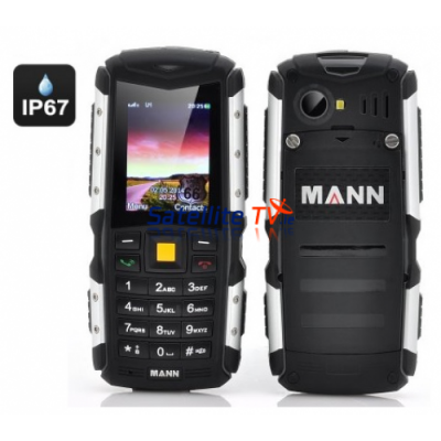 MANN Rugged IP67 Waterproof, Dustproof, Shockproof 2 Inch Display Mobile Phone - Silver