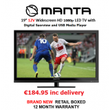 "Manta LED Saorview TV 19"" 12Vdc"