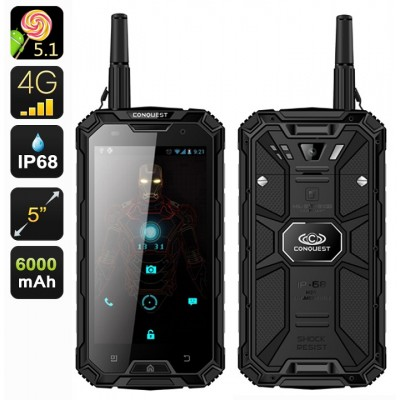 Gift Bundle 1 - 20v Cordless Drill + Conquest Rugged 4G Phone