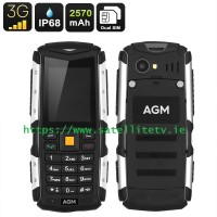 AGM Rugged IP68 Waterproof, Shockproof, Dustproof 3G 2 Inch Display Mobile Phone