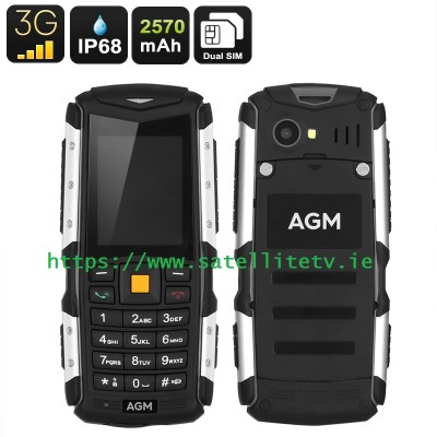 MANN Rugged IP68 Waterproof, Shockproof, Dustproof 3G 2 Inch Display Mobile Phone