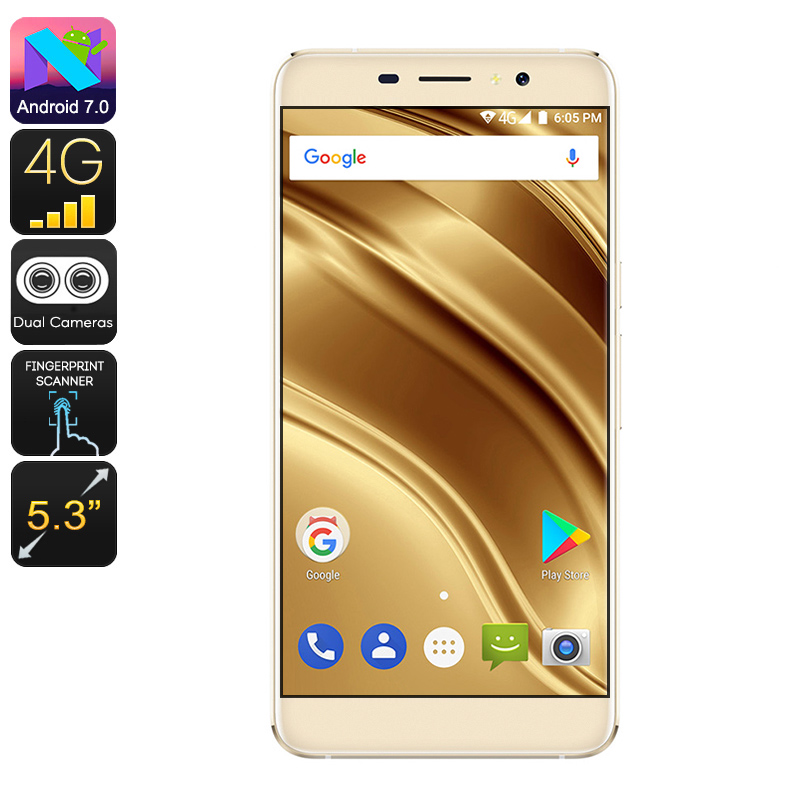 Ulefone S8 Pro 4G Quad Core Smartphone - 16GB, Android 7, 2 SIM's, 13MP Camera - Golden