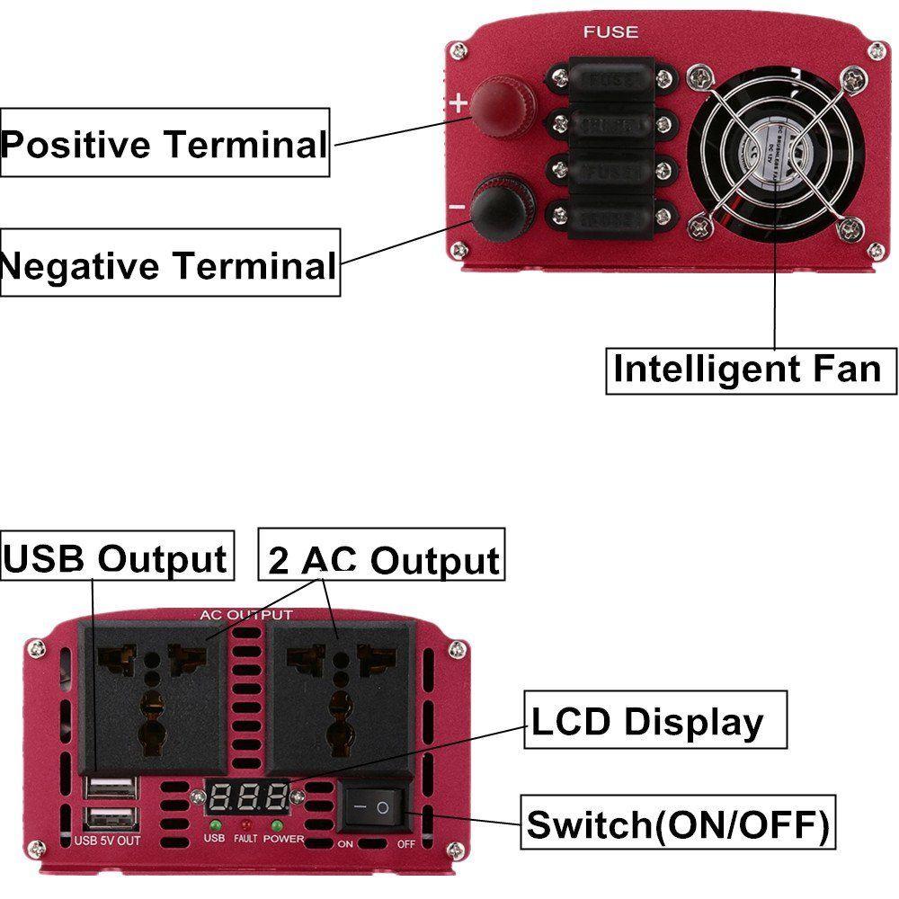 2000w Modified Sine Wave Power Inverter 12volt Satellite Tv Design Code For