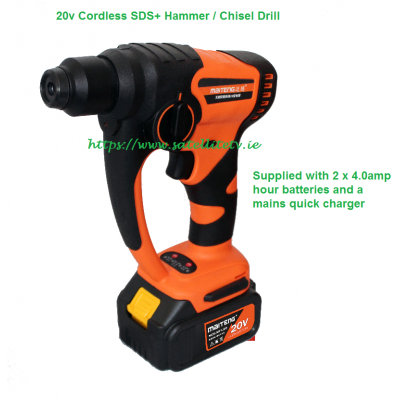 20V Cordless SDS + Hammer Drill