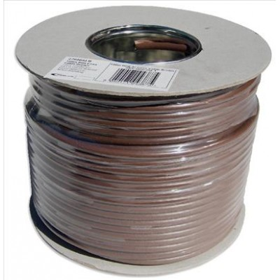 100m RG6 Satellite Cable Brown