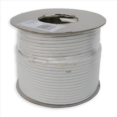 100m RG6 Satellite Cable White