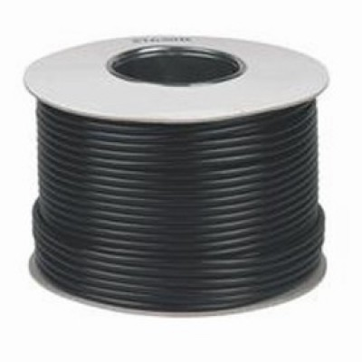 100m RG6 Satellite Cable Black
