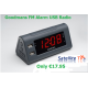 Goodmans Alarm Clock with FM Radio and 2 x USB Charging Sockets
