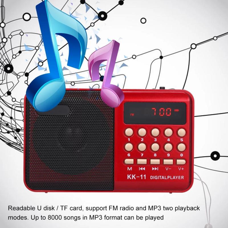 FM Radio - Red - 10 Presets