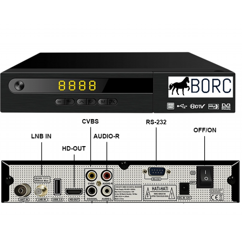 BORC Combo Saorview + Satellite HD
