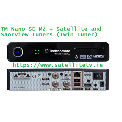 Technomate Nano SE M2 Plus Satellite + Saorview HD Receiver