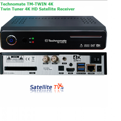 Technomate TM Twin 4K -  Twin Tuner 4K UHD Satellite Receiver