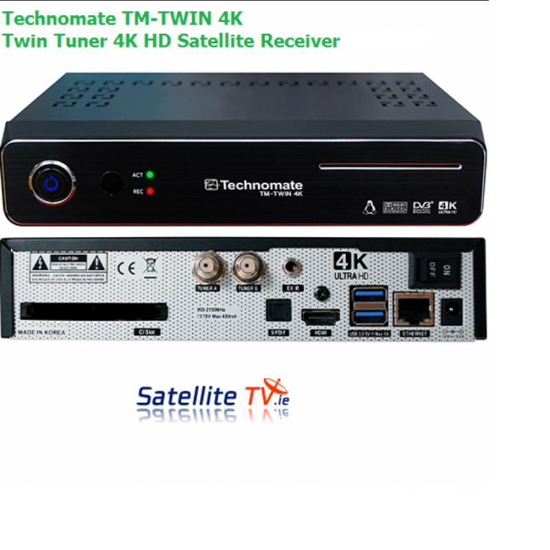 Technomate TM Twin 4K -  Twin Tuner 4K UHD Satellite Receiver